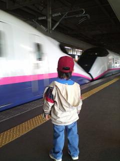 新幹線好きの息子